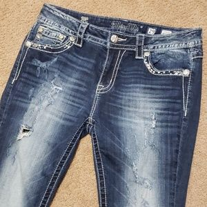 Miss Me Standard Ankle Skinny Blue Jeans 29 Worn